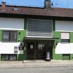 Sportheim (Rückseite) des SC Markt Heiligenstadt