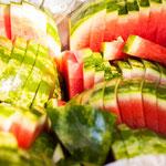 Melonen und Bananen von Obst Maier