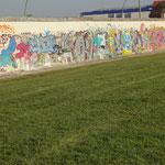laatste stukje Berlijnse muur, East side Galery