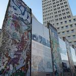 stukje Berlijnse muur op de Potsdamer Platz