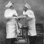 cuisiniers de l'ancien hôtel