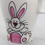 Mit Liebe handbemaltes Porzellan: Teller, Tasse und Schale einzeln oder im Set