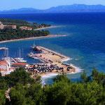 Апартаменты в Башке Воде у моря в центре. Отдых с детьми. Хорватия.