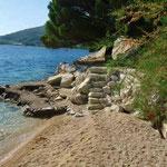 Апартаменты в Омише, песчаный пляж в Хорватии, отдых с детьми