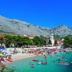 Рынок и детская площадка в Башке Воде. Апартаменты у моря в центре. Отдых с детьми. Хорватия.