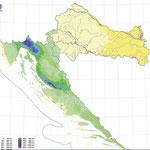 Количество дождей в Хорватии зимой