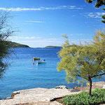 Апартаменты у моря в тихом месте, отдых с детьми в Хорватии, лучшие пляжи.