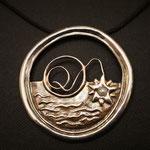 #Amulett Quantenfischer Silber