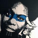 Portrait Nina Simone  Acrylique sur toile 60x73 cm  © Julia Ratsimandresy