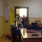 In der Schule gab es einen V.I.P-Raum für uns.