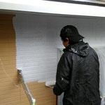 外壁塗装、下塗り