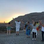 Abendstimmung Yogareise Ausbildung Rhodos Yogaschule Voglreiter
