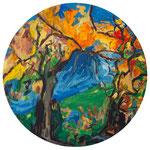 Herbst / Öl auf Leinwand / ø 80 cm