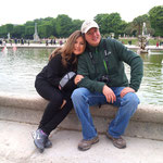 CE3CT Roberto and XYL Carolina - Luxembourg garden -PARIS May 2013