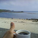 coffee on the beach...what else?