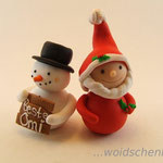 Schneemann mit Weihnachtswichtel