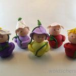 Tortenfiguren Wichtel Frühlingswichtel 5er Gruppe