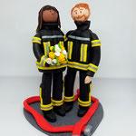 Feuerwehrbrautpaar XXL 22 cm