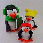 Tortenfigur Pinguingruppe