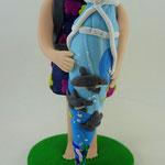 Tortenfigur Schulanfänger Mädchen stehend