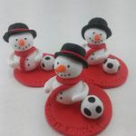 Tortenfigur Wichtel Schneemänner Fußball