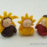 Tortenfigur Wichtel Sonnenblumen und Sonne