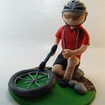 Tortenfigur Fahrradfahrer