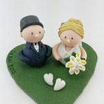 Tortenfigur Miniwichtel Brautpaar