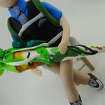 Tortenfigur Schulanfänger Junge sitzend