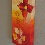 """""""Blumen-Duo"""" (20x40x3,5cm) zu verkaufen"""