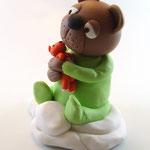 Tortenfigur Teddy/ Bär auf Wolke