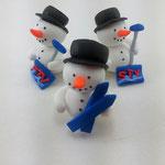 Tortenfiguren Schneemänner