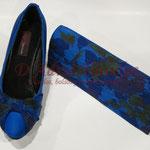 Zapato forrado con bolso hecho a juego