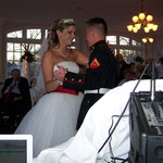 Sharing their first dance as Husband and Wife