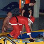auch der Weihnachtsmann schafft es ins Boot
