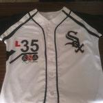 Camisola White Sox decorada con Sublimado