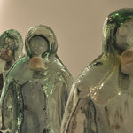 Homo homini lupus / Patricia-Jeanne Delmotte/ verre soufflé, pâte de verre, argenture