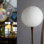 """Lampe """"Lune"""" /  Charles Luminaire / verre soufflé et taillé / photo Charles Paris."""