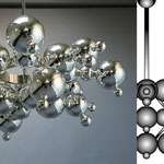 Lustre «Bubble» / diam. 104 cm / design Luc Gensollen pour Charles Luminaire / verre soufflé au chalumeau et argenture / photo Charles Paris.