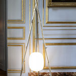 Vaulot&Dyevre / Lampe des bois / Luminaire pour le Musée de la Chasse et de la Nature / Bronze et verre soufflé