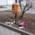 Wagnerstraße: auch hier massive Verschmutzungen