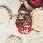 Weihnachtsmann antiker Christbsumschmuck