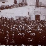 Anni '30 Comizio del partito fascista in Piazza del Popolo