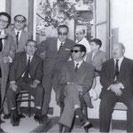 Anni '60 da sx gli avvocati, Luigi De Marco, Pierino Cumino,(dr F.Nigro) Cosimo Chinigò, Giovanni Leonetti (Pierino Astorino,cameriere), Pasquale Lasso, Cosimo Marzullo, Demetrio Viteritti