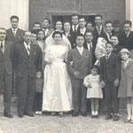 1960- Chiesa S.Antonio-sposi Petrone-Rugna (segue la foto con tutti i nomi)