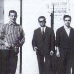 1959 Tre giovani barbieri, da sx Francesco(Ciccillo) Diana, Eugenio Avato e Giuseppe Salandrino