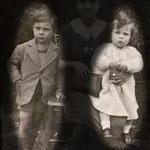 1939 il 15 maggio a Roma,villa Borghese, a sx Nicola Antenore , a dx Pupetta Antenore(figli di Rosa De Rosis e di Guglielmo Antenore)