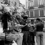 """Fine anni '70 """"'a bancarella 'i Pettinati all'Acquanova (foto S. Grillo)"""