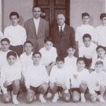 """1962 La squadra sportiva della scuola media """"Garopoli"""""""