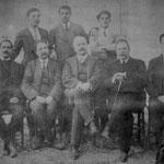 1915 al Garopoli in alto da sx F.Salatino;E.Borromeo;?;?;D.Gallerano;B.Leone;G.Impagliazzo;V.Gallerano